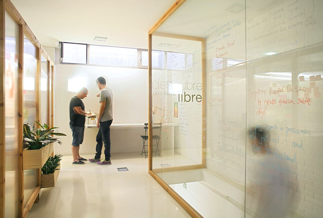 Viseualmente conectado, Freeland es un coworking inspirador